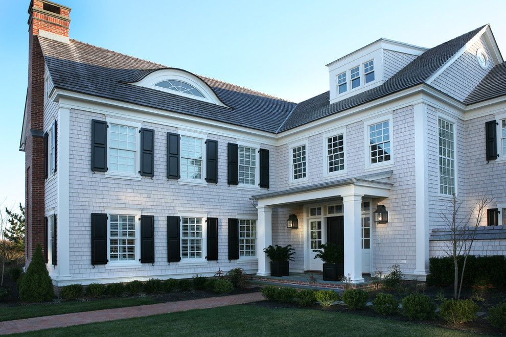 Dormers for a Traditional Exterior with a Shake Roof and Revival, Avalon, Nj by Asher Associates Architects