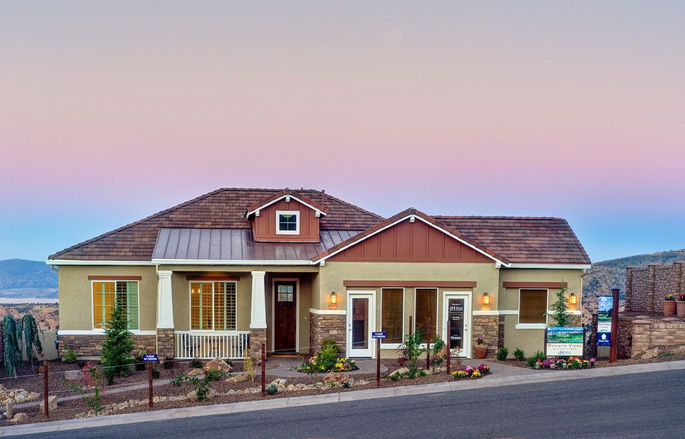 Dorn Homes for a Craftsman Exterior with a New Homes and Pinnacle Views at Prescott Lakes by Dorn Homes
