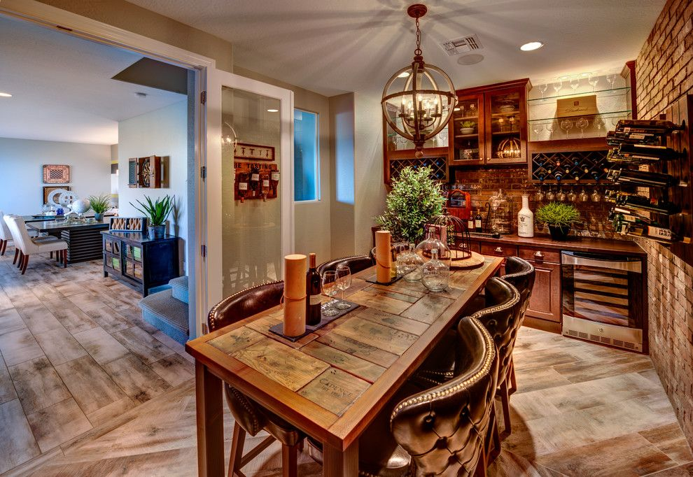 Dorn Homes for a Craftsman Wine Cellar with a New Homes and Pinnacle Views at Prescott Lakes by Dorn Homes