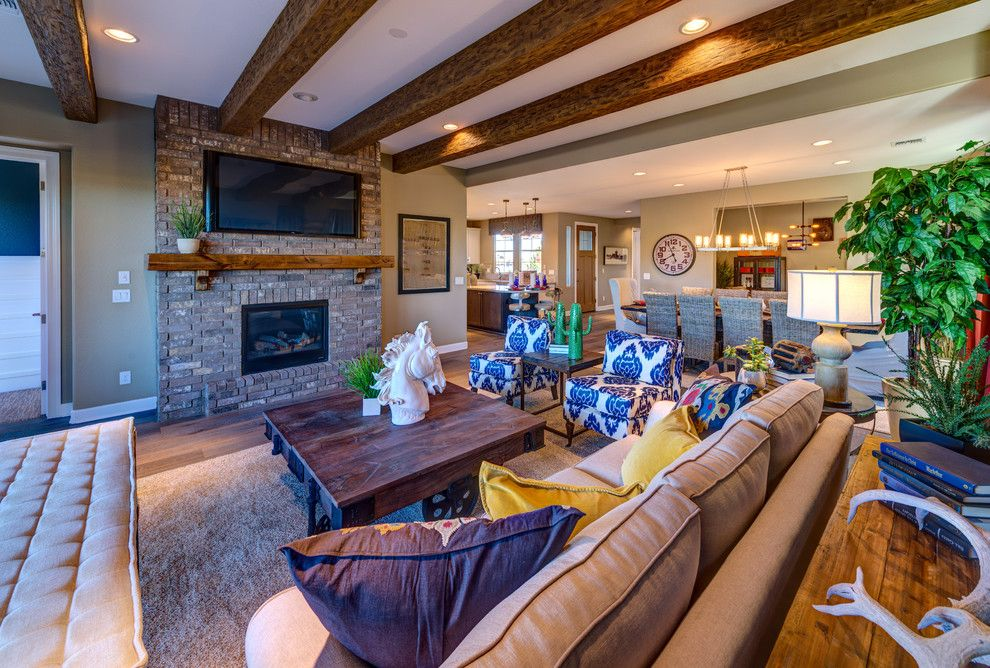 Dorn Homes for a Traditional Living Room with a Mountain Bungalow and the Katherine: Astoria at Prescott Lakes by Dorn Homes