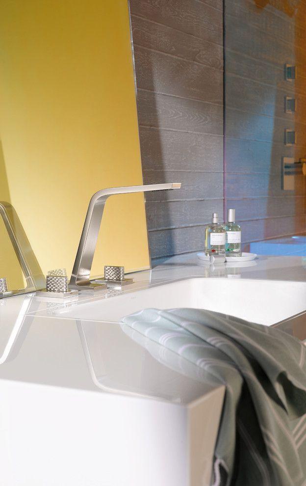 Dornbracht for a Modern Bathroom with a Widespread and Dornbracht Cl.1 Lavatory Faucet by Dornbracht