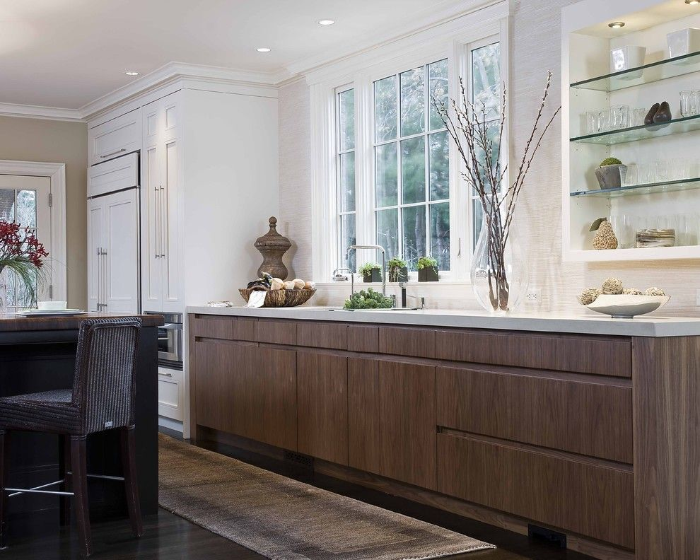 Dornbracht for a Traditional Kitchen with a Crown Molding and Lenox Street by Venegas and Company