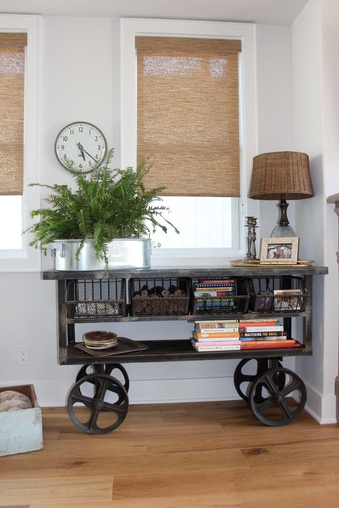 Dovetail Furniture for a Beach Style Entry with a Fern and 310 11th Street by Jasmine Roth