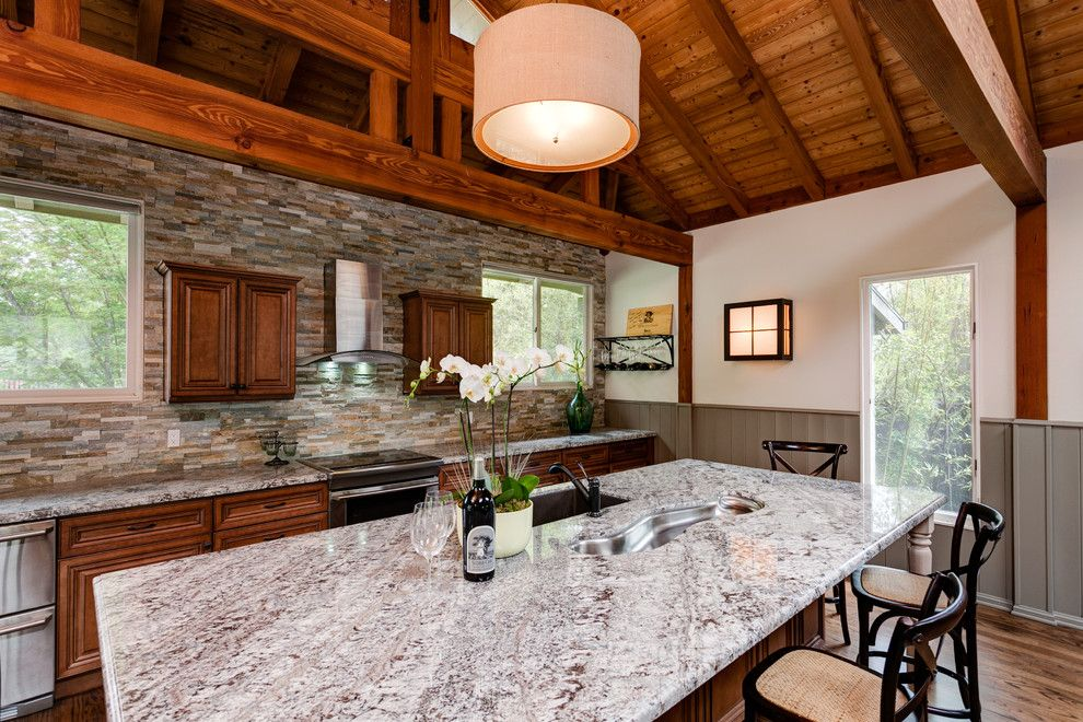 Dovetail Furniture for a Traditional Kitchen with a Windows and Ojai, California Projects by Janelle Interiors