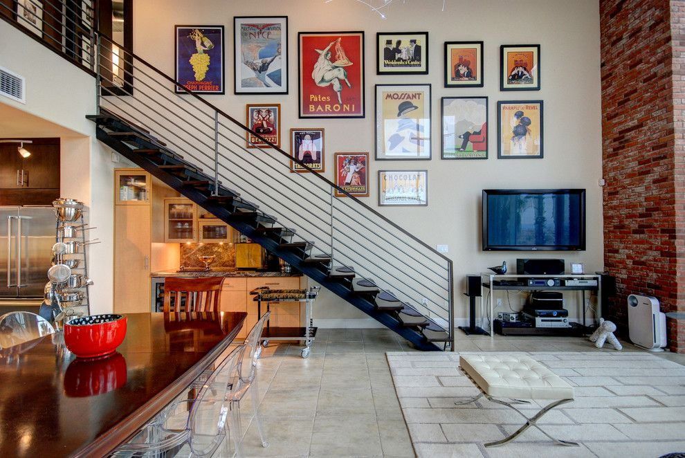 Dr Horton Las Vegas for a Contemporary Staircase with a Vintage French Posters and Las Vegas by Wild Dog Digital Real Estate Photography