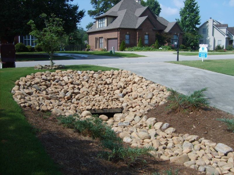 Drainage Ditch For A Mediterranean Landscape With A