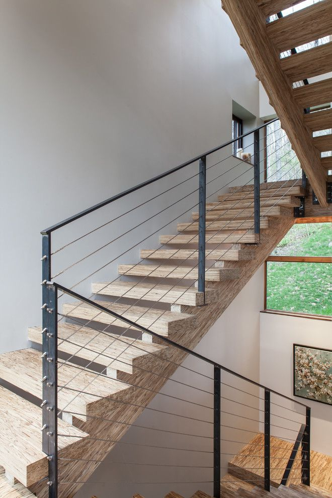 Drywall Alternatives for a Contemporary Staircase with a My Houzz and My Houzz: Torriero Home by Jason Snyder