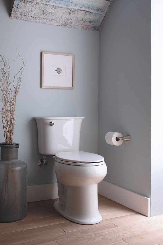 Dunn Edwards Paints for a  Bathroom with a Toilet Decor and Bathroom by Sterling Plumbing