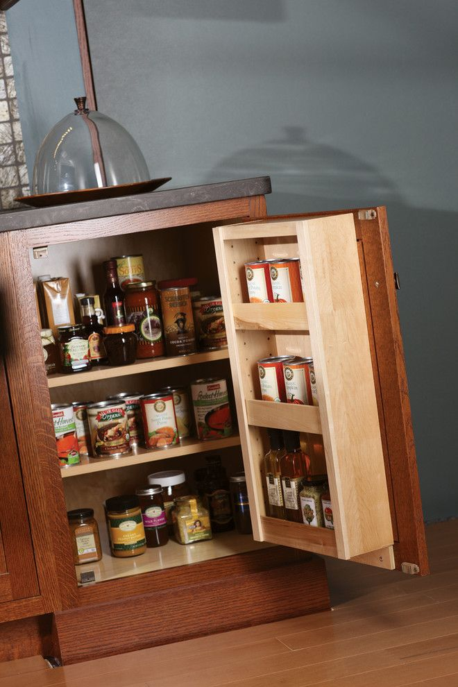 Dura Supreme Cabinets for a Craftsman Kitchen with a Can and Craftsman   Storage Detail by Dura Supreme Cabinetry