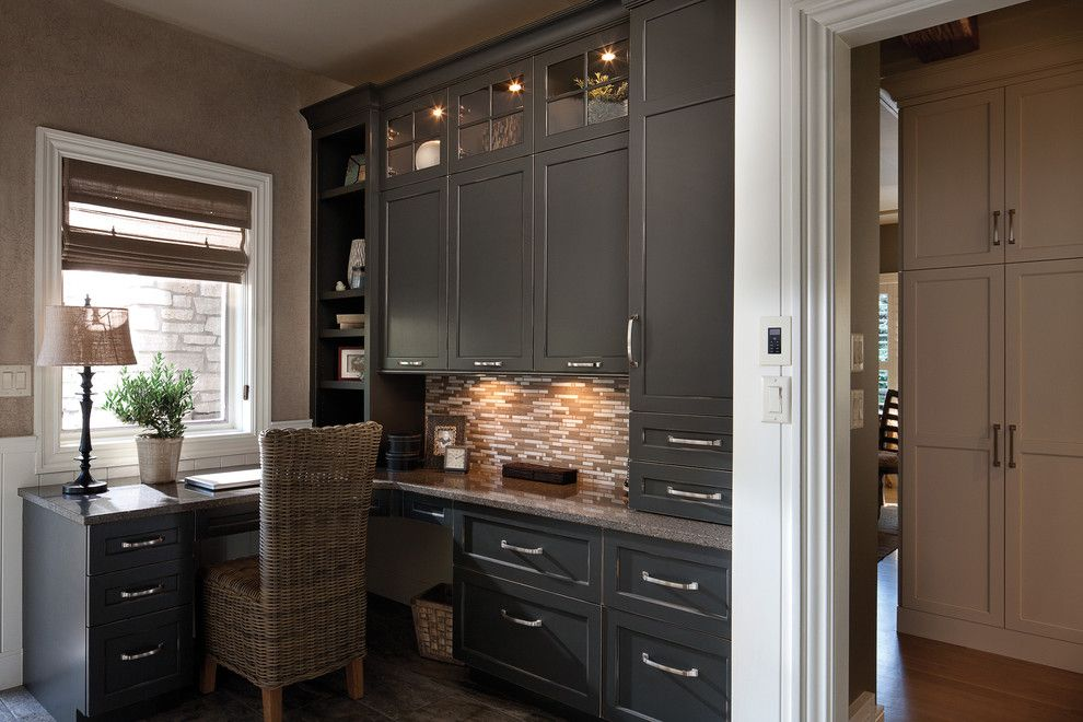 Dura Supreme Cabinets for a Traditional Home Office with a Office Cabinet and Destined to Be a Classic by Dura Supreme Cabinetry