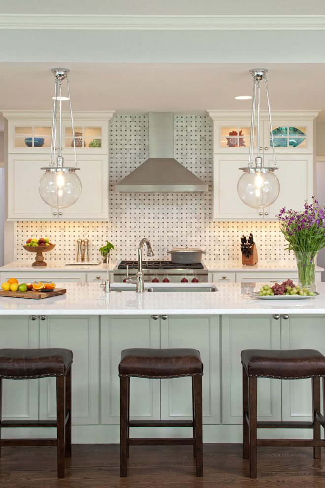 Dura Supreme Cabinets for a Transitional Kitchen with a Quartz Counter Top and Arden Avenue by Mingle