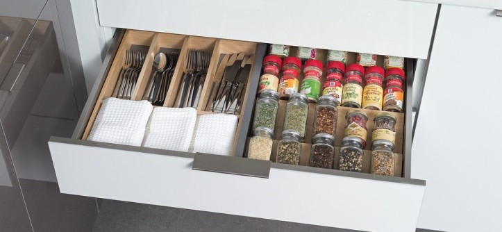 Dura Supreme for a Contemporary Kitchen with a Drawer and Stainless Steel Kitchen Utensil Drawers From Dura Supreme by Dura Supreme Cabinetry