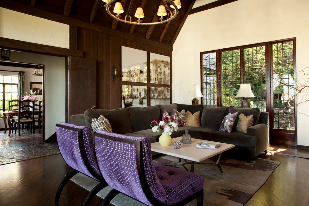 Duralee for a Eclectic Living Room with a My Houzz and My Houzz: Eclectic Berkeley Tudor by Margot Hartford Photography