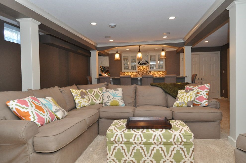 Duralee for a Modern Basement with a Modern and Mary Best Designs by Mary Best Designs