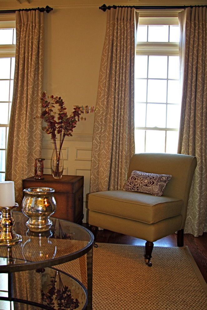 Duralee for a Traditional Family Room with a Duralee Fabric and Family Room by Rachel Oliver Design, Llc