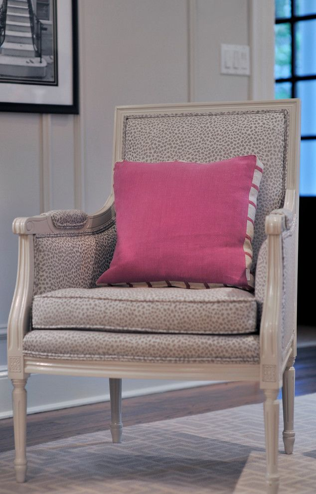 Duralee for a Traditional Living Room with a Silver Dots and Silver Lining by Harloe Interiors