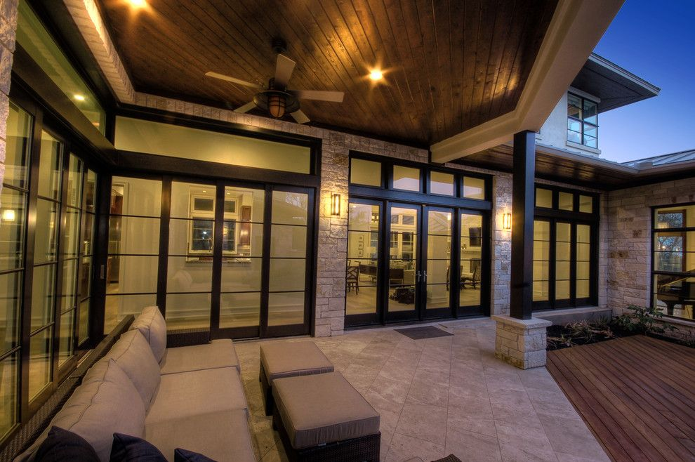 Durango Doors for a Contemporary Exterior with a Outdoor Living and Cortona Exterior by Cornerstone Architects
