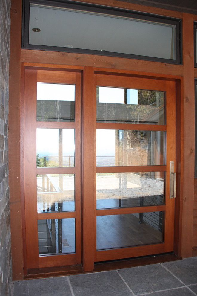 Durango Doors for a Modern Entry with a Entry Doors and Entry Doors   Bowers Style by Appwood Doors and Millwork