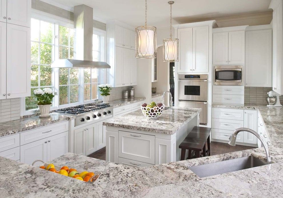 Duraseal Stain for a Traditional Kitchen with a Prep Sink and Ellen Grasso Inc by Ellen Grasso & Sons, Llc