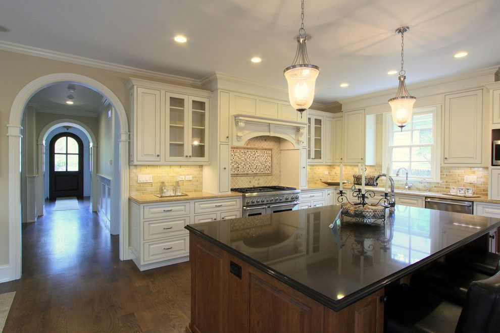 Duraseal Stain for a Traditional Kitchen with a Wood Trim and Fit for a Chef by Mandy Brown Architects, Pc