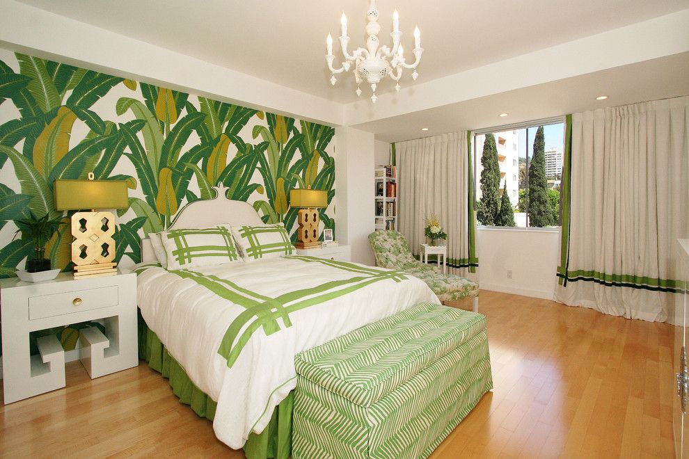 Duvet Cover Definition for a Contemporary Bedroom with a Drapery Trim Detail and West Hollywood by Michelle Workman Interiors