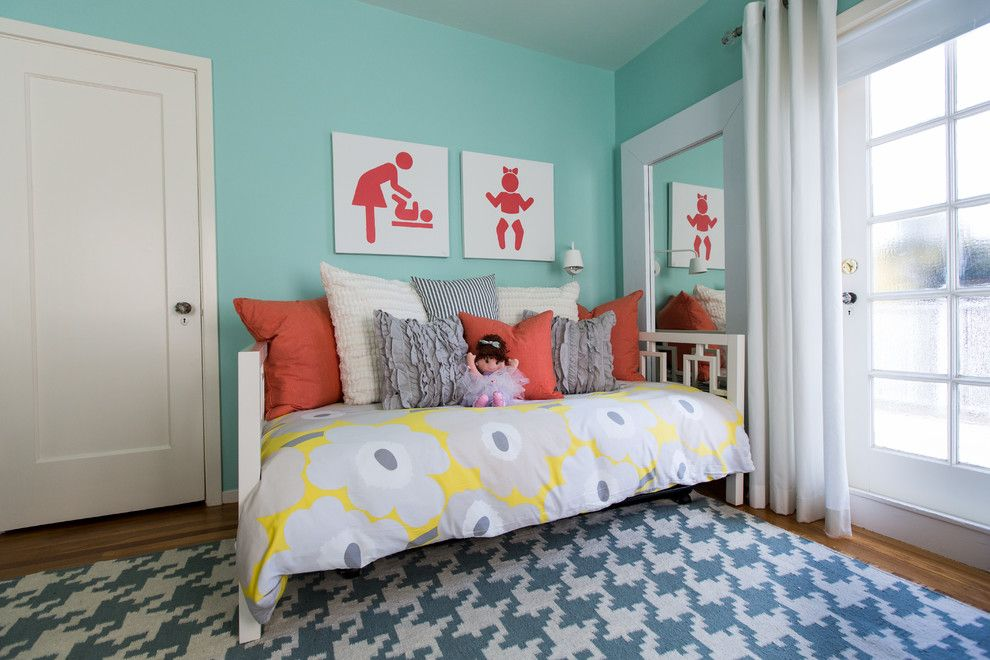 Duvet vs Comforter for a Modern Kids with a Doll and Chic and Modern Nursery by Olive Juice Designs