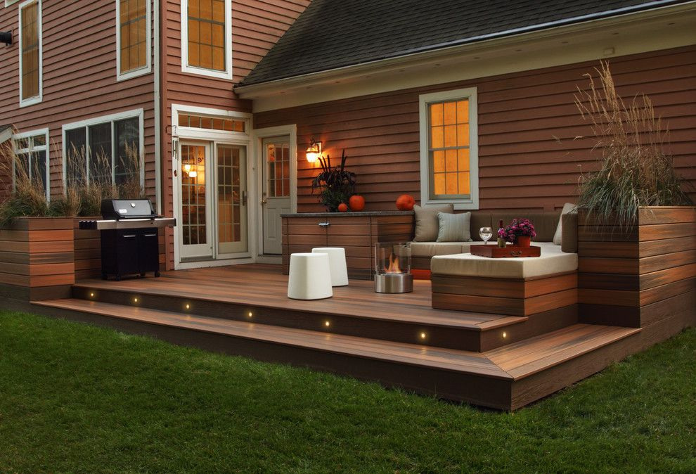 Dynasty Cabinets for a Contemporary Deck with a Contemporary and Fiberon Decking by Fiberon Decking