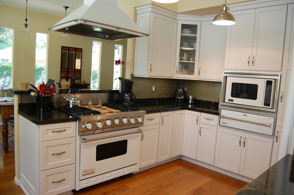 Dynasty Cabinets for a Contemporary Kitchen with a Black Beauty Granite and La Canada Flintridge by Laurie Burke