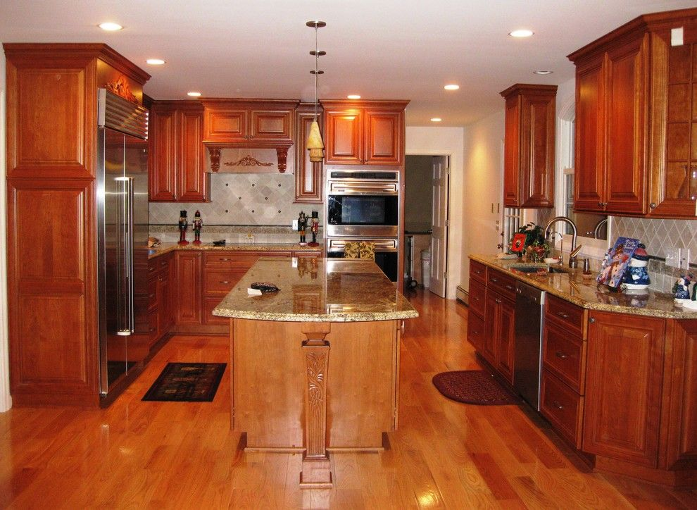Dynasty Cabinets for a Traditional Kitchen with a Artesia and Dynasty by Omega Cherry Cabinetry by Kitchens by Design