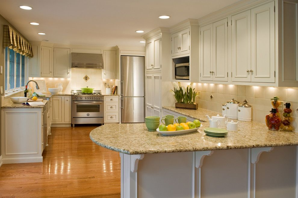 Dynasty Cabinets for a Traditional Kitchen with a Granite Countertops and Lisa's Work by Lisa Furey   Barefoot Interiors