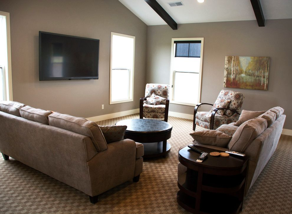 Eastbrook Homes for a Traditional Living Room with a Pool and Lowing Woods by Eastbrook Homes