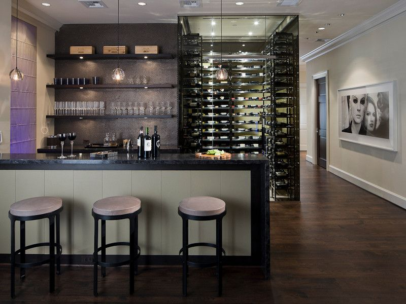 Ebby Halliday Plano for a Contemporary Wine Cellar with a Dallas Realtors and Michael Molthan Luxury Homes Formal Dining Rooms by Michael Molthan Luxury Homes