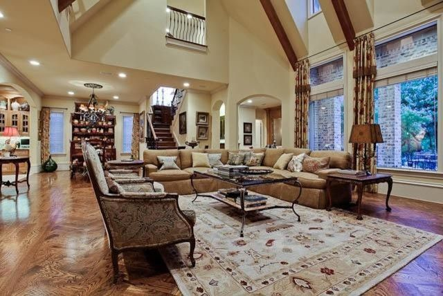 Ebby Halliday Plano for a Traditional Family Room with a Dining Room and Michael Molthan Luxury Homes Great Rooms and Family Rooms by Michael Molthan Luxury Homes