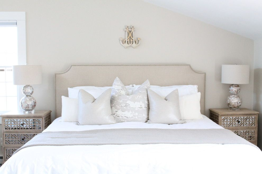 Edgecomb Gray for a Beach Style Bedroom with a Natural Lighting and Tom Nevers Farmhouse, Nantucket by Kristy Kay
