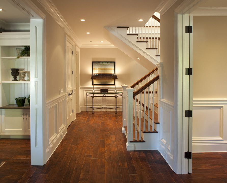 Edgecomb Gray for a Traditional Entry with a Foyer and Foyer by Arch Studio, Inc.