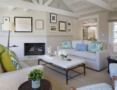 Edgecomb Gray for a Transitional Living Room with a Jute and Recent Work by EJ Interior Design, Eugenia Jesberg
