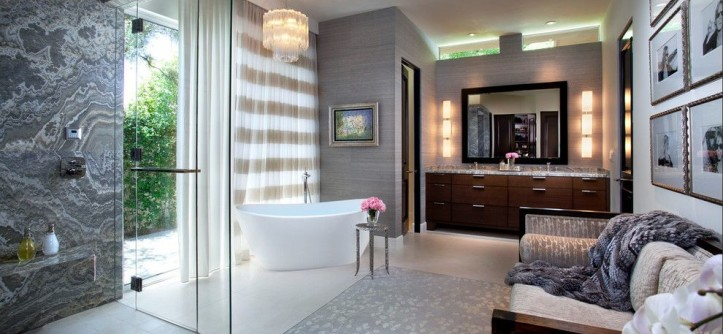 Efaucets for a Transitional Bathroom with a Wall Sconces and Misc by Michelle Montgomery Interiors