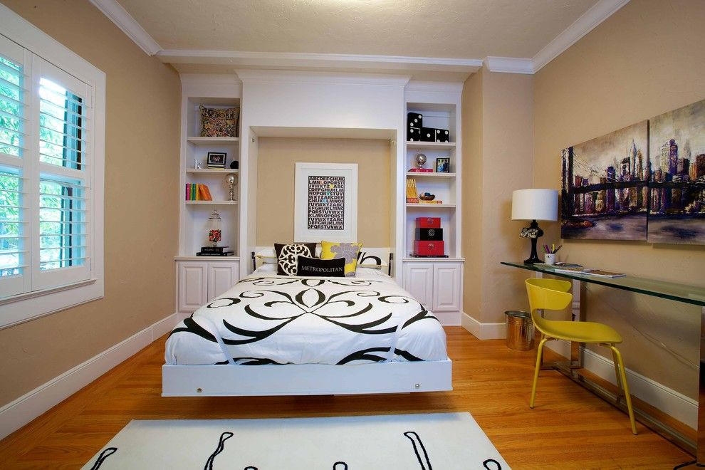 Efo Furniture for a Eclectic Bedroom with a Wood Trim and Vintage Modern Living by Kerrie L. Kelly