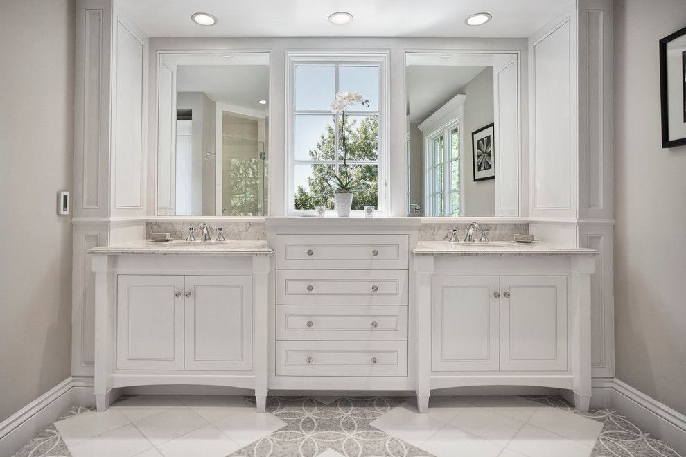 Eggshell vs Satin for a Traditional Bathroom with a White Molding and Mill Valley Estate by Kcs, Inc.