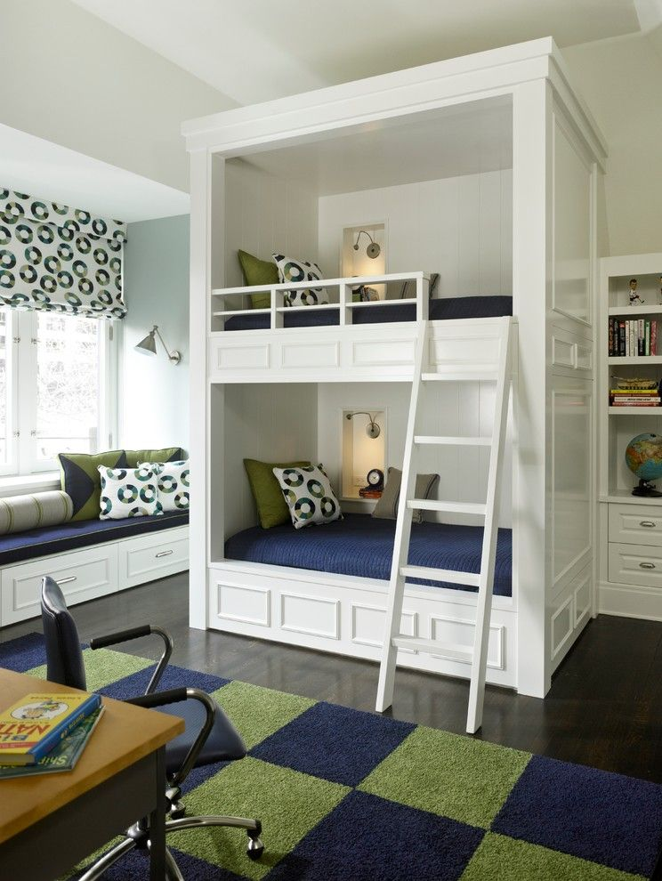 Eggshell vs Satin for a Traditional Kids with a Desk Chair and Son's Bedroom by Michael Abrams Limited