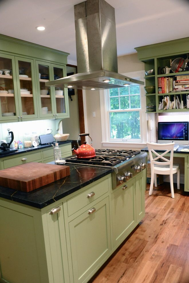 Eggshell vs Satin for a Traditional Kitchen with a Drawer Pulls and Kitchen and Family Room Renovation by Sarahandgarth