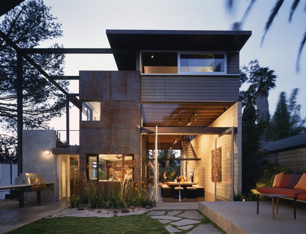 Ehrlich Architects for a Contemporary Exterior with a Corner Window and 700 Palms Residence by Ehrlich Architects