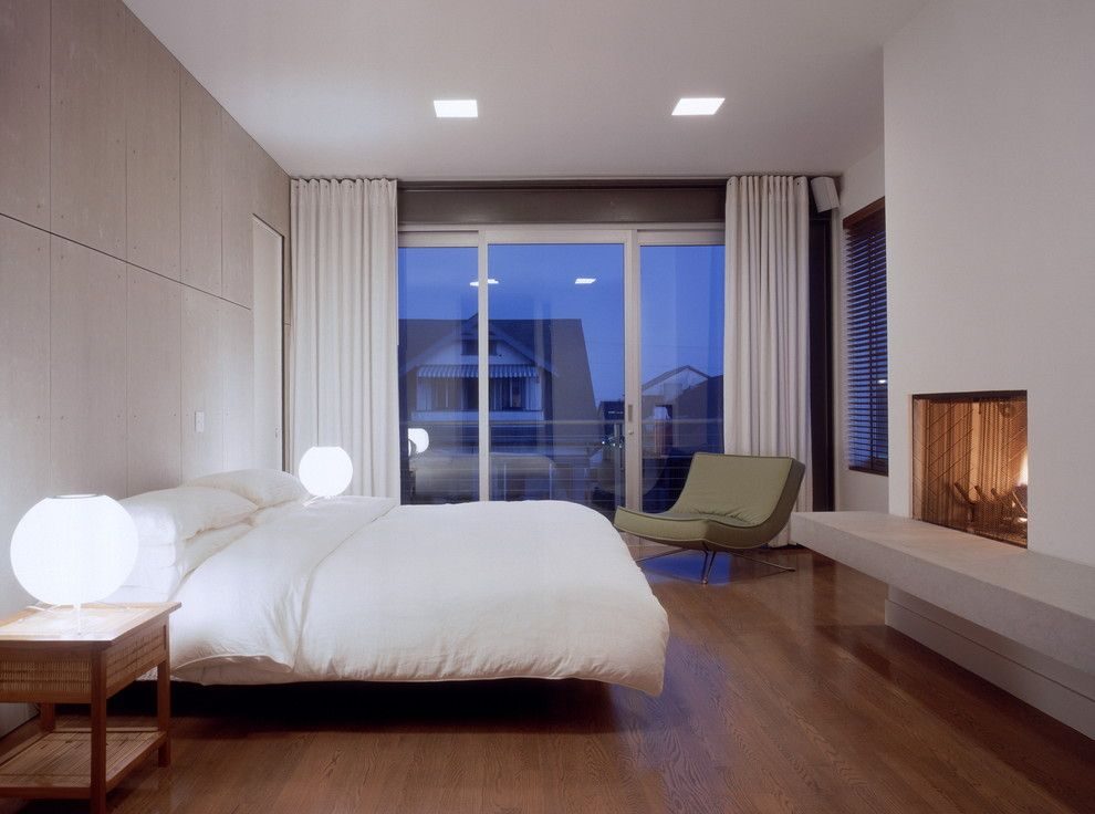 Ehrlich Architects for a Modern Bedroom with a Fireplace and Webster Residence by Ehrlich Architects