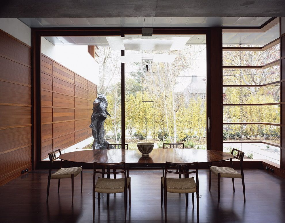Ehrlich Architects for a Modern Dining Room with a Caning and Waldfogel Residence by Ehrlich Architects