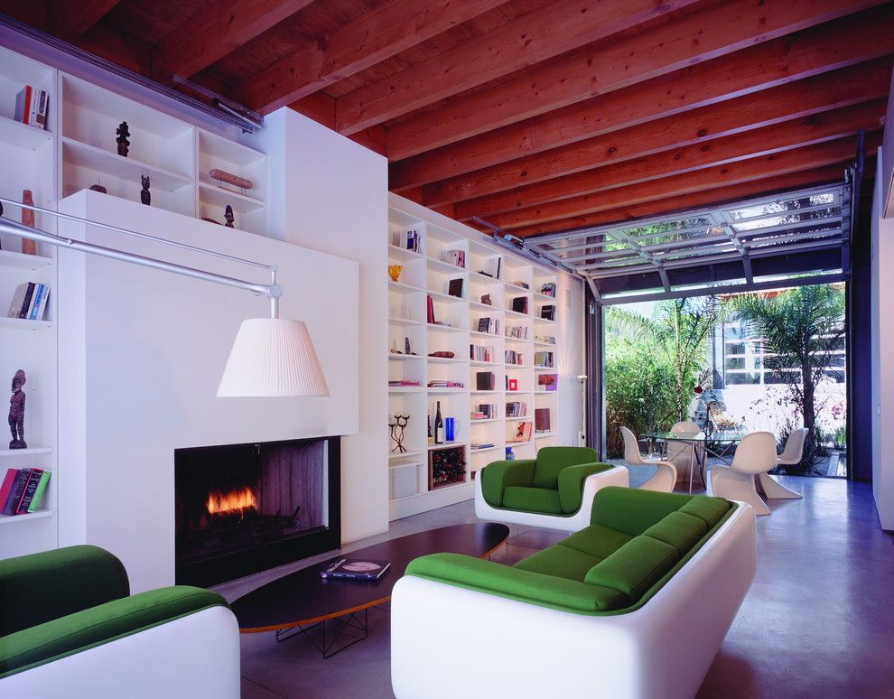 Ehrlich Architects for a Modern Living Room with a Oval Coffee Table and Webster Residence by Ehrlich Architects