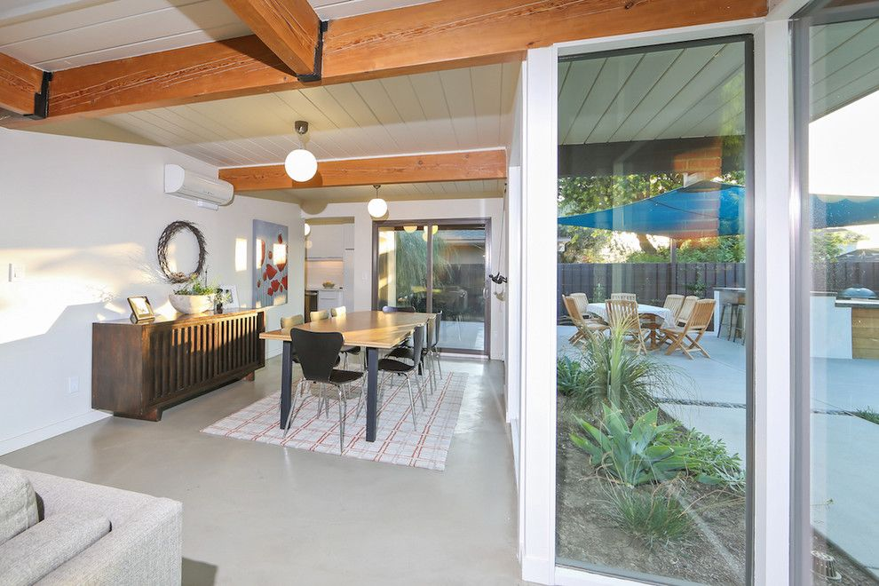 Eichler Homes for a Midcentury Dining Room with a Eichler Real Estate and Jones and Emmons Eichler Home by Better Living Socal