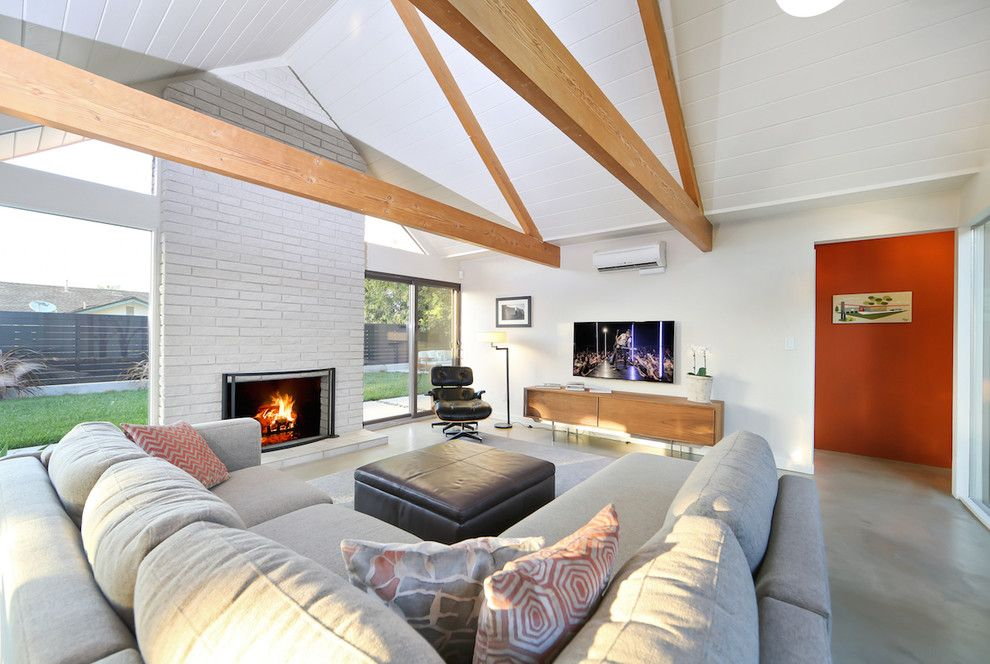 Eichler Homes for a Midcentury Living Room with a Eichler and Jones and Emmons Eichler Home by Better Living Socal