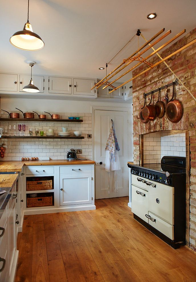 Elan Lighting for a Traditional Kitchen with a Copper and Victorian Kitchen by the Main Furniture Company