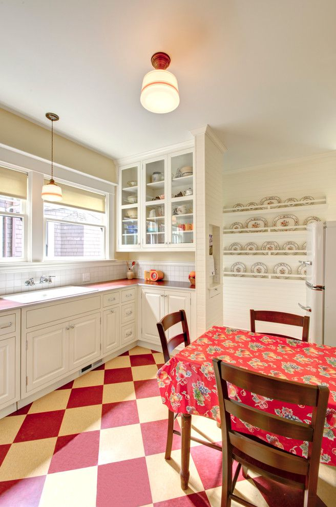 Electric Schoolhouse for a Traditional Kitchen with a Vingage and Retro Kitchen by Hammer & Hand