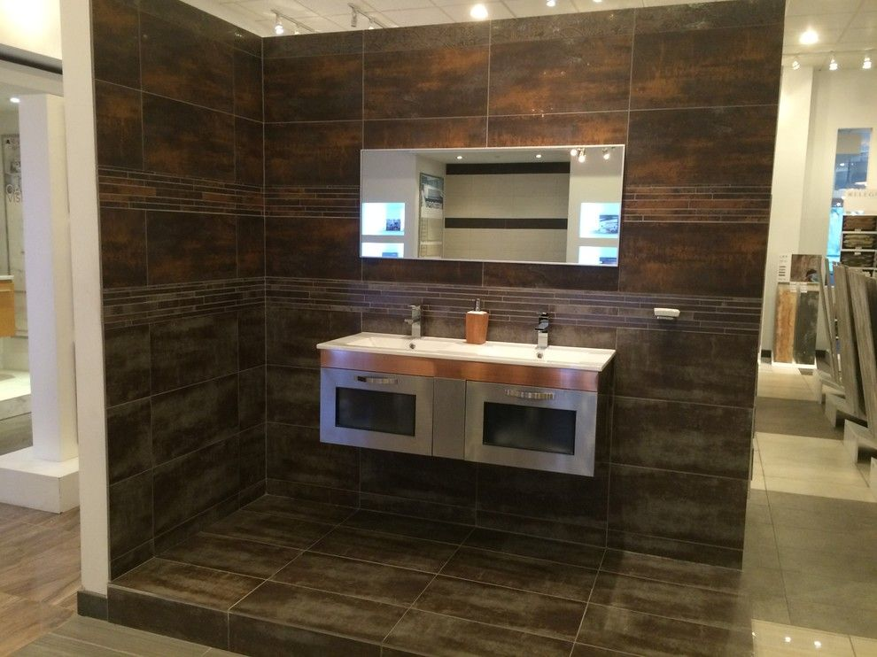 Eleganza Tile for a Modern Bathroom with a Kitchen Tile and Eleganza Tile by Factory Direct Hardwood Liquidators